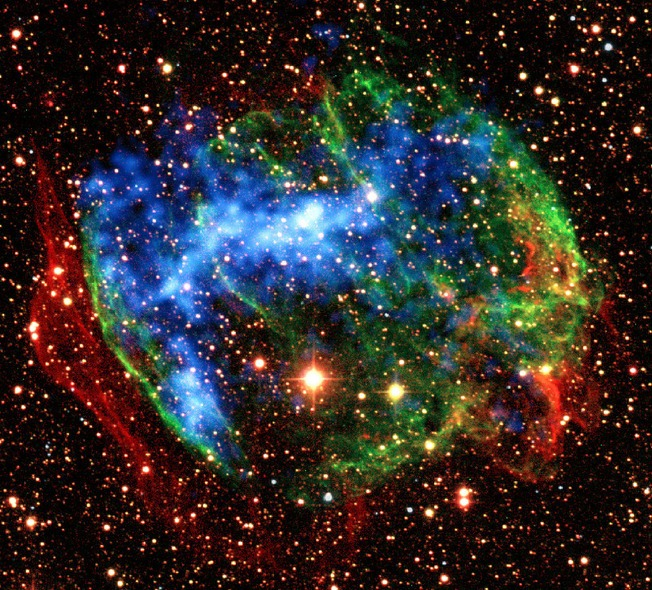 Colourful space, Supernova Remnant W49B