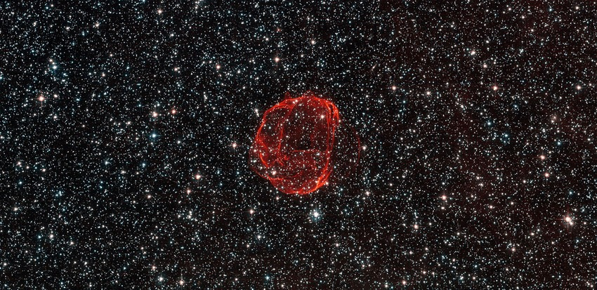 Dots in space, Hubble Sees the Remains of a Star Gone Supernova