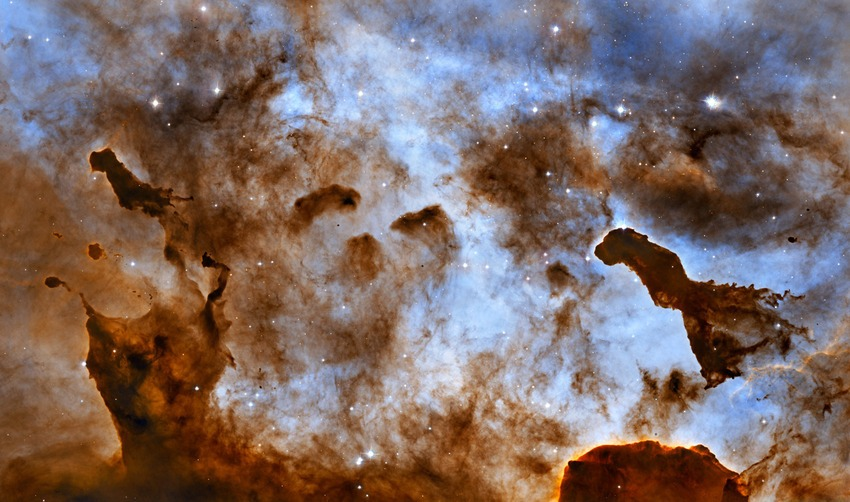 Dragons in space, Hubble Captures Cosmic Ice Sculptures