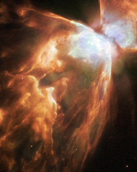 Fire on space, Dying Star Shrouded by a Blanket of Hailstones Forms the Bug Nebula