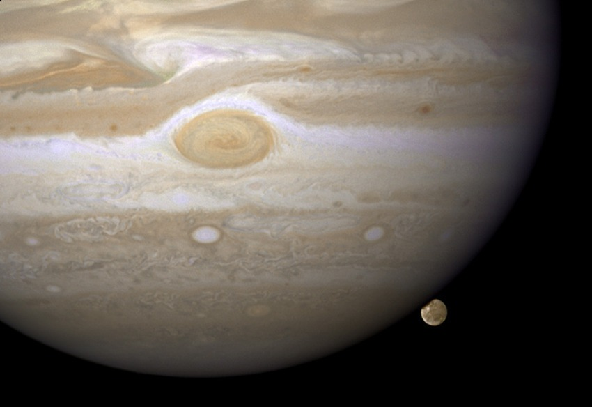 Jupiter Moon, Hubble Catches Jupiter's Largest Moon