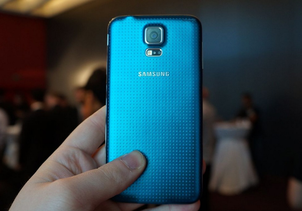 S5 back, Samsung Galaxy S5