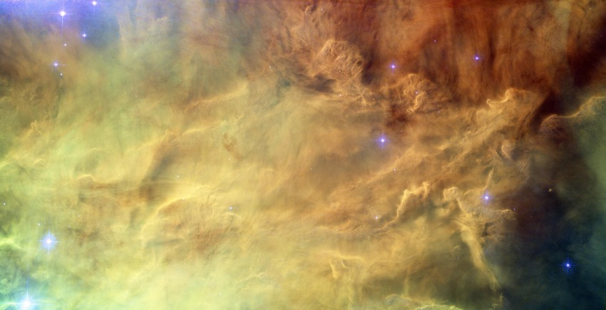 Space in fog, Hubble reveals heart of Lagoon Nebula