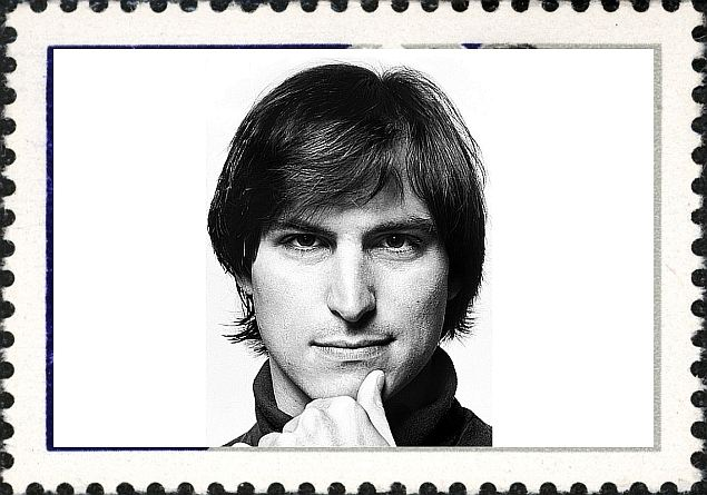 Steve Jobs youth stamp, young Steve Jobs