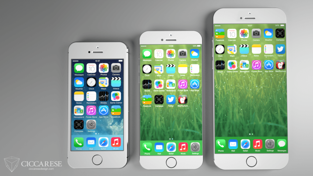 iPhone 6 vs iPhone 5S, iPhone 6 Concept, new iPhone 6 Concept, iphone 6, new iphone concept