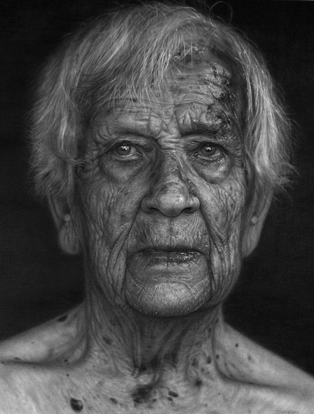 Old man, Photorealistic Portraits, Photorealistic Portraits by DIRK DZIMIRSKY
