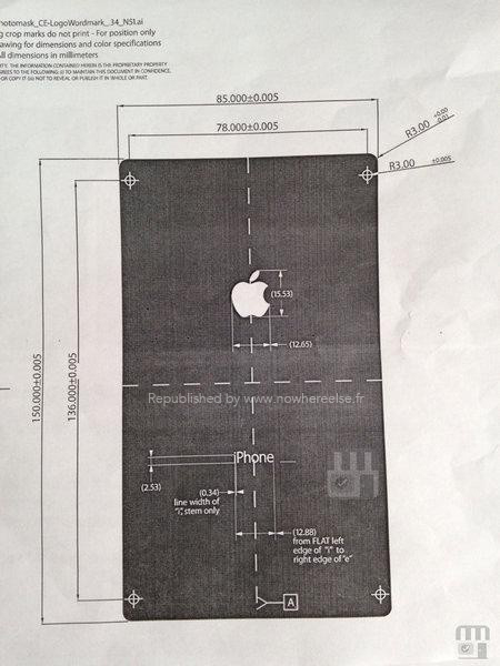 Leaked iPhone 6 Diagram Reveals Device With A Larger Than 5-inch Display [Photo] 1