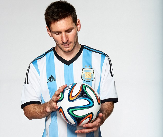 Lionel Messi with the Brazuca