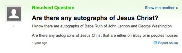 Jesus's autograph