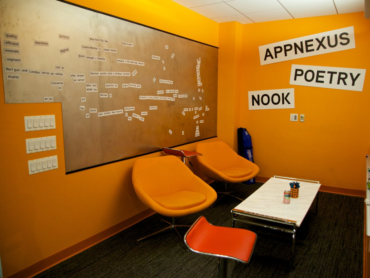 Appnexus has a poetry nook