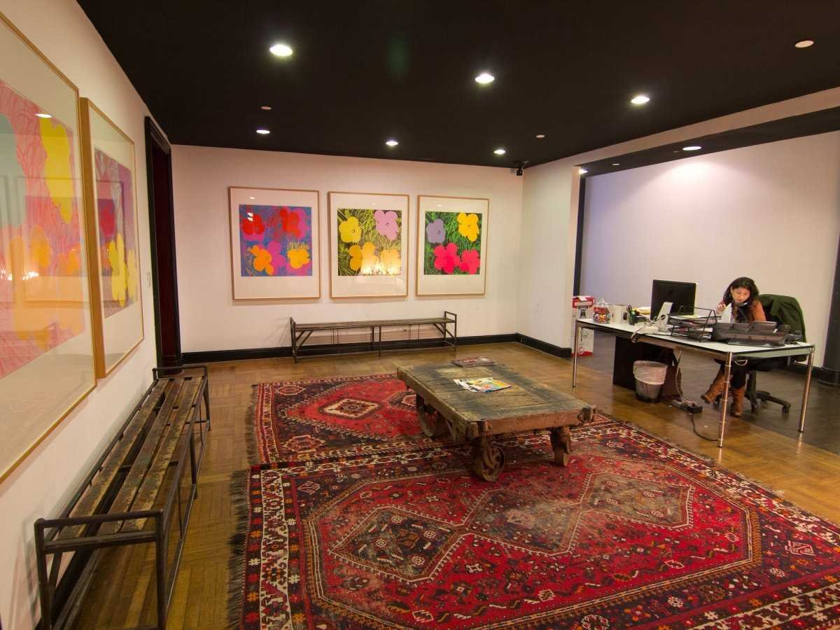 Code and theory features Andy Warhol on its walls