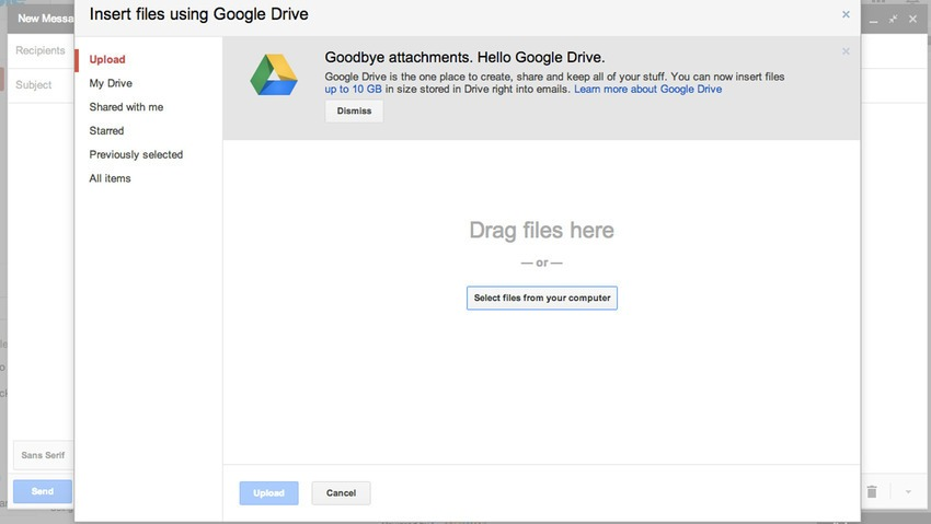 google drive email