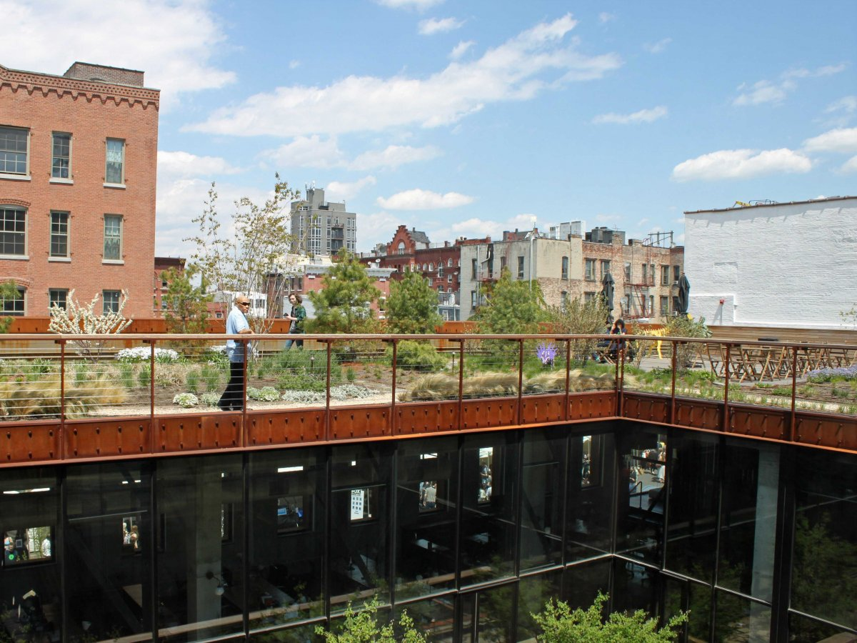 Kickstarter has a rooftop garden for employees to hang out.