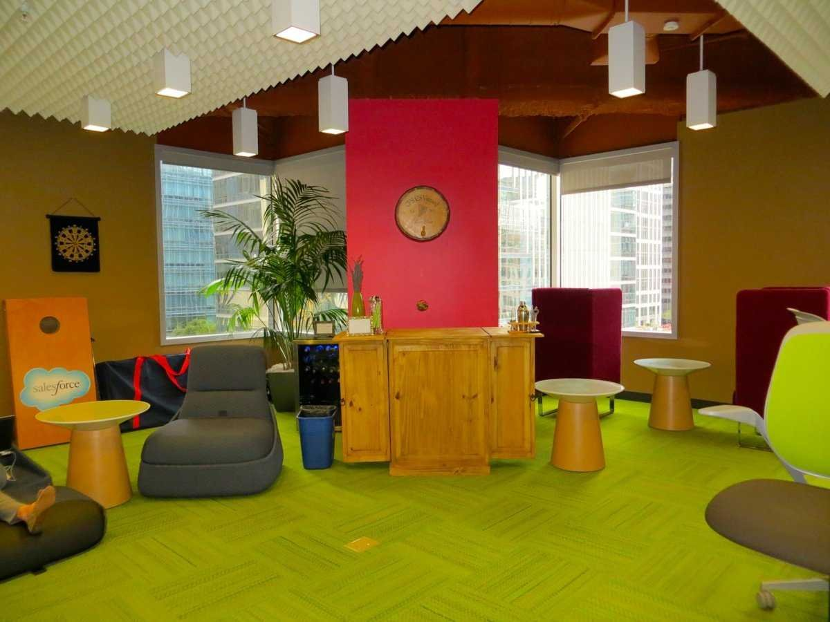 Salesforce has a colourful office