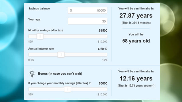This Calculator Shows How Long It's Going To Take You To Be a Millionaire 1