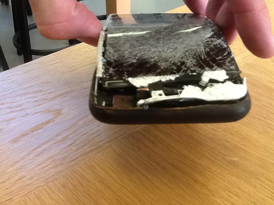 burned iphone 6