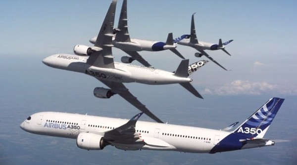 5 Airbus planes, Airbus, Airbus A350, Airbus A350 Formation Flight, Airbus A350 Formation Flight video, A350 Formation Flight video