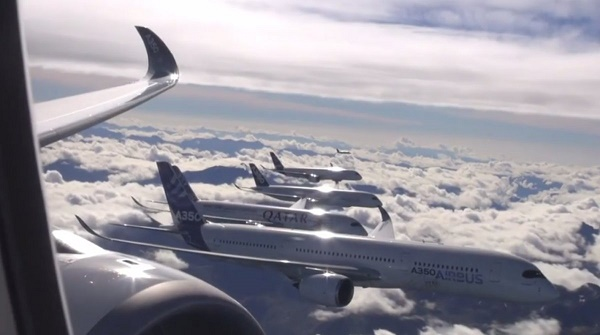 Airbus planes, Airbus, Airbus A350, Airbus A350 Formation Flight, Airbus A350 Formation Flight video, A350 Formation Flight video
