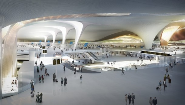 New Beijing Airport, new beijing airport, largest passenger terminal, Zaha Hadid Architects, Zaha Hadid, 2020 Olympic Games, Sleuk Rith Institute, Pritzker Prize, World's Largest Passenger Terminal