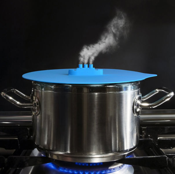 Silicon steaming lid