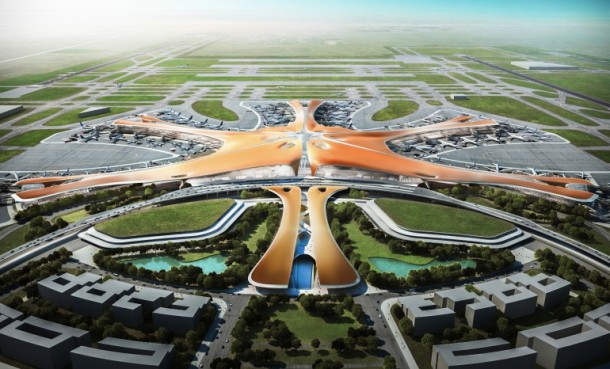 largest airport terminal, new beijing airport, largest passenger terminal, Zaha Hadid Architects, Zaha Hadid, 2020 Olympic Games, Sleuk Rith Institute, Pritzker Prize, World's Largest Passenger Terminal