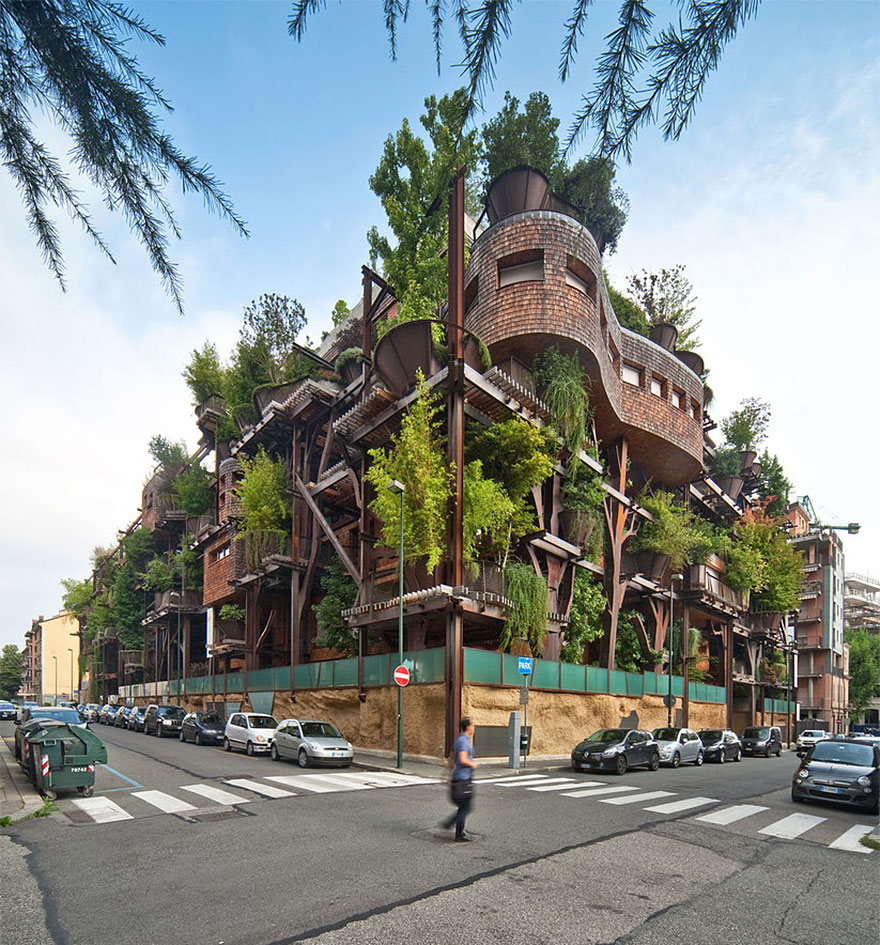 This Is An Incredible Treehouse That Protect Residents From Air and Noise Pollution 1
