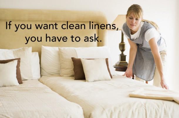 Clean linens