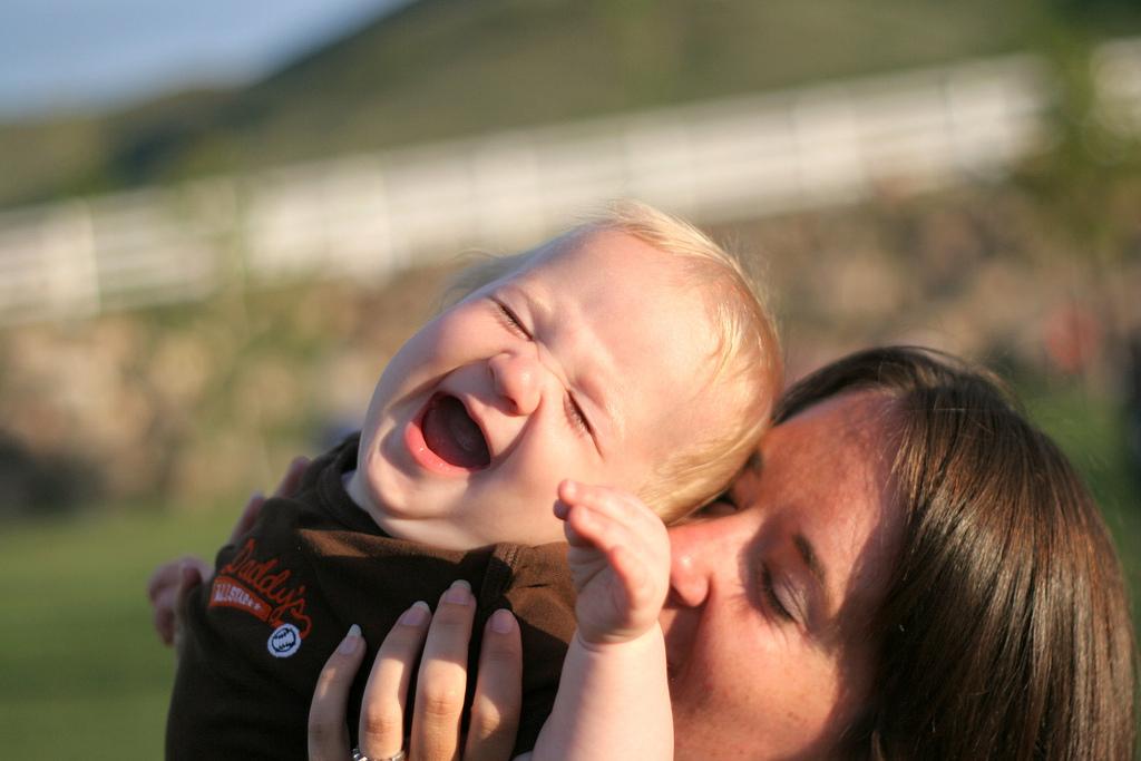 baby tickling