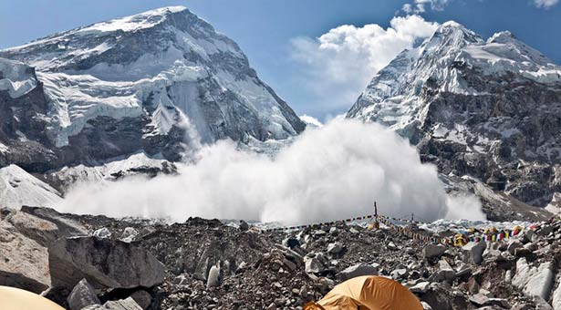 Terrifying Video Shows Mount Everest Base Camp Hit By Avalanche After Earthquake