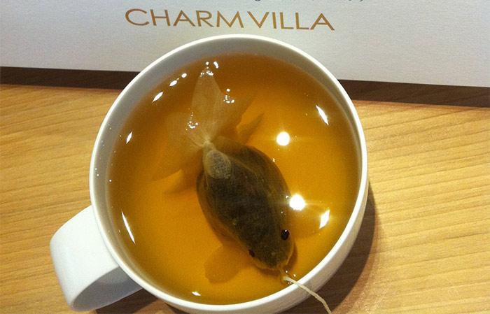 Goldfish shaped teabags
