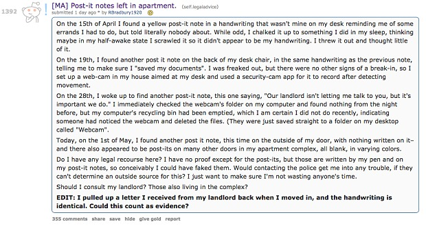 This Reddit User Thought His Landlord Is Stalking Him and Complains of Headaches, A Fellow User Correctly Links It To CO Poisoning and Saves His Life 1