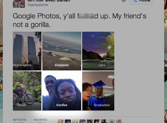 Google Photos App Autotags Black People 'Gorillas'
