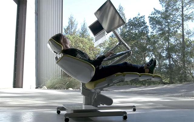 lying down workstation