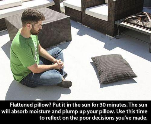 Plump up pillow