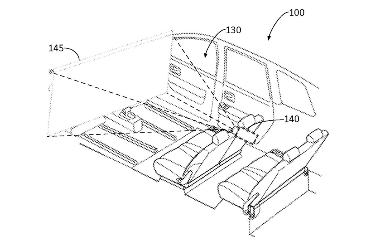 Driverless car windshield movie screen patented by Ford