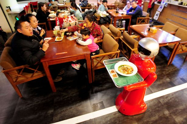 This robot waiter works 8-hour shifts and doesn't expect a tip