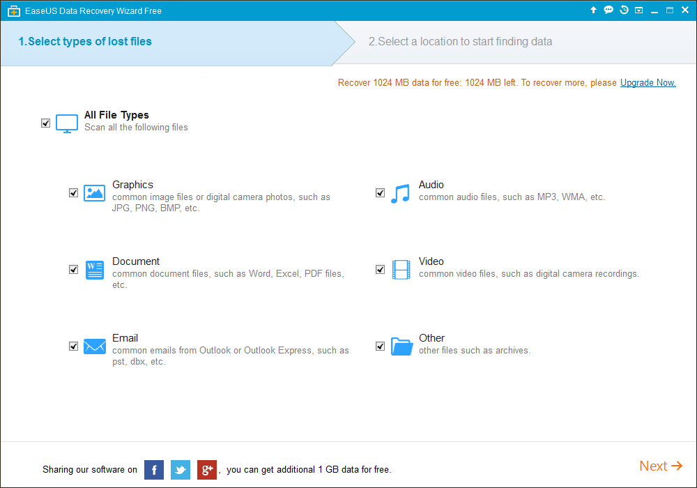 Free Trial of EaseUS Data Recovery Wizard