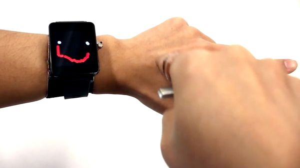 Newly Developed Smartwatch Uses Your Skin As A Touchscreen