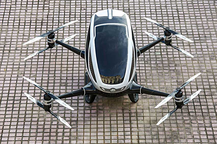 World's first single-passenger drone being tested by Chinese company