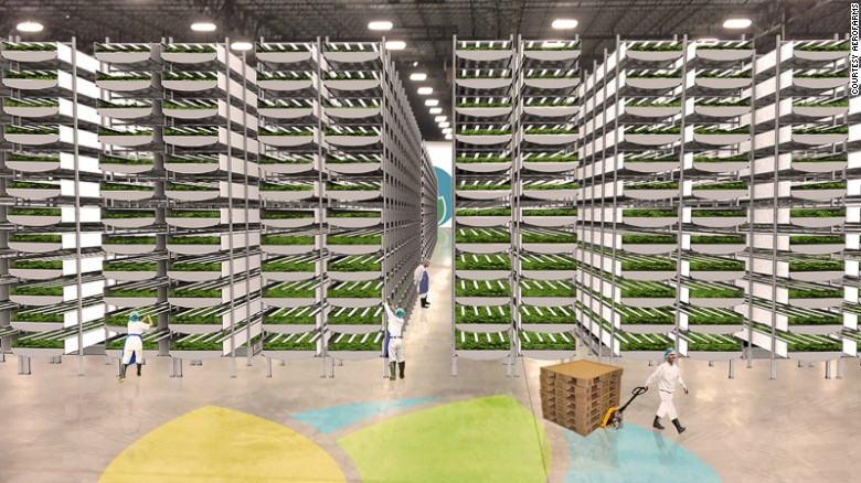 No sun, soil or water is needed in new vertical farm