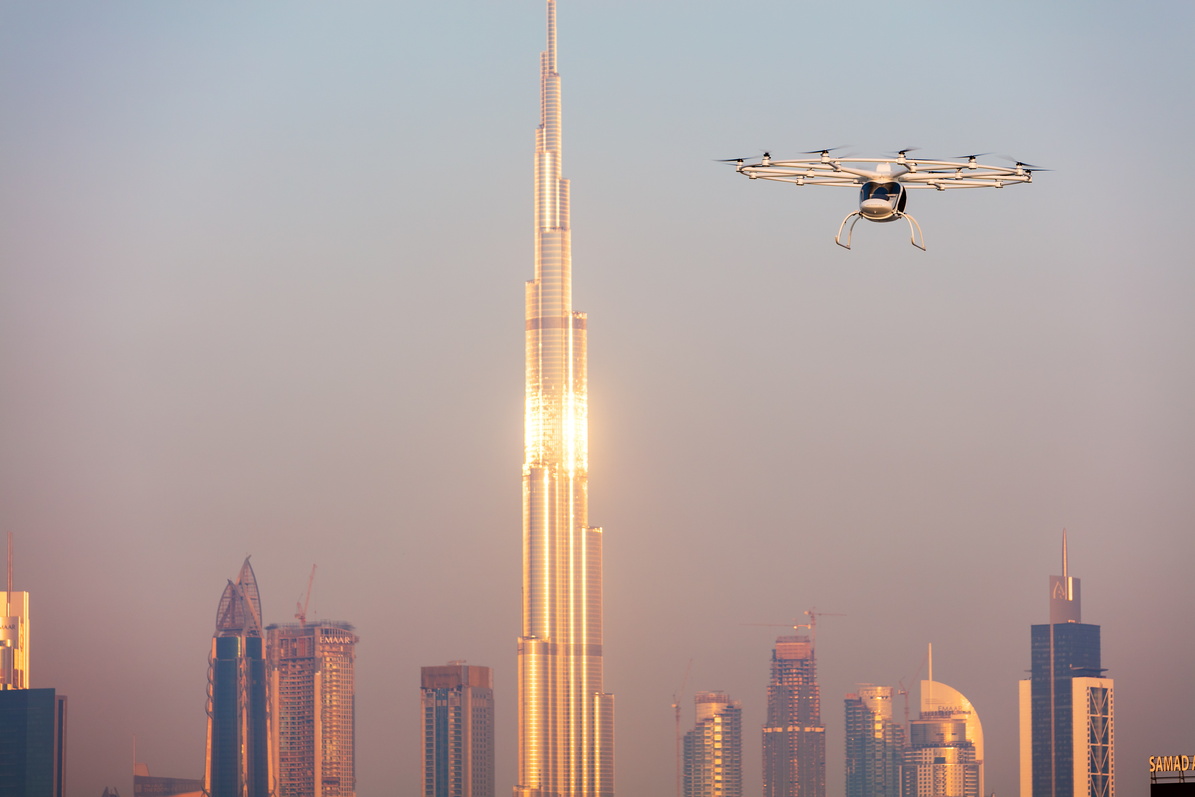 Dubai's Flying Taxi Drone Takes First Public Flight