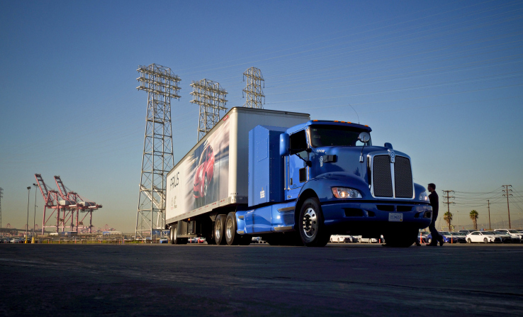 Toyota's hydrogen fuel cell trucks put to work in Port of LA pilot