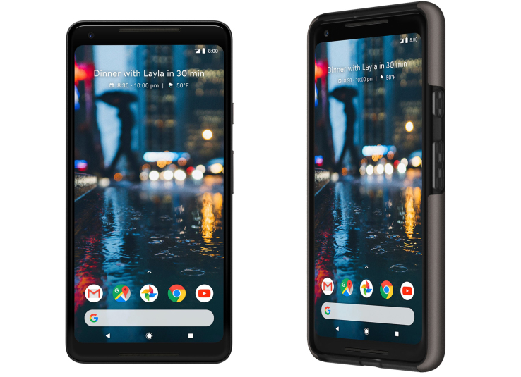 This leaked look at the Google Pixel 2 XL's front face is promising