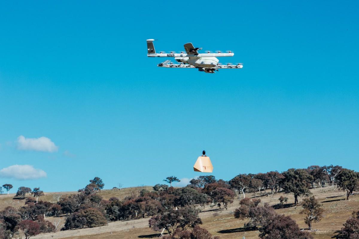 Drones Delivery Food
