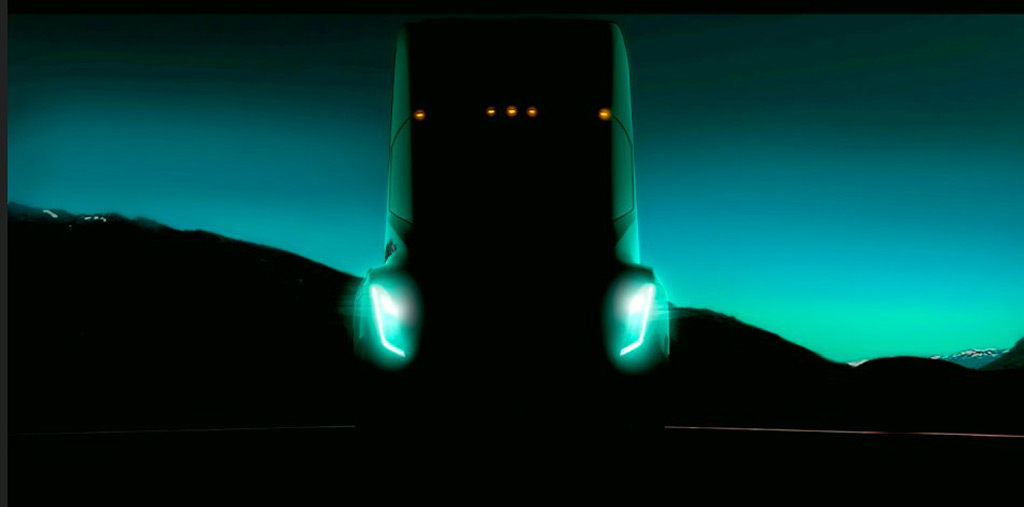 Tesla electric semi truck possibly spied in new photo