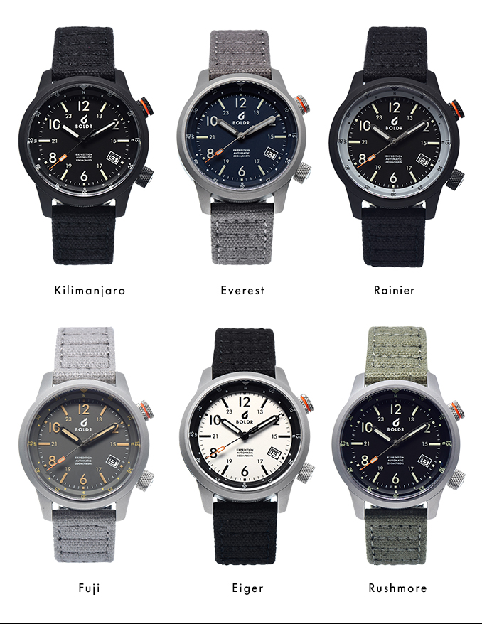 The BOLDR Expedition Watch lets you get away