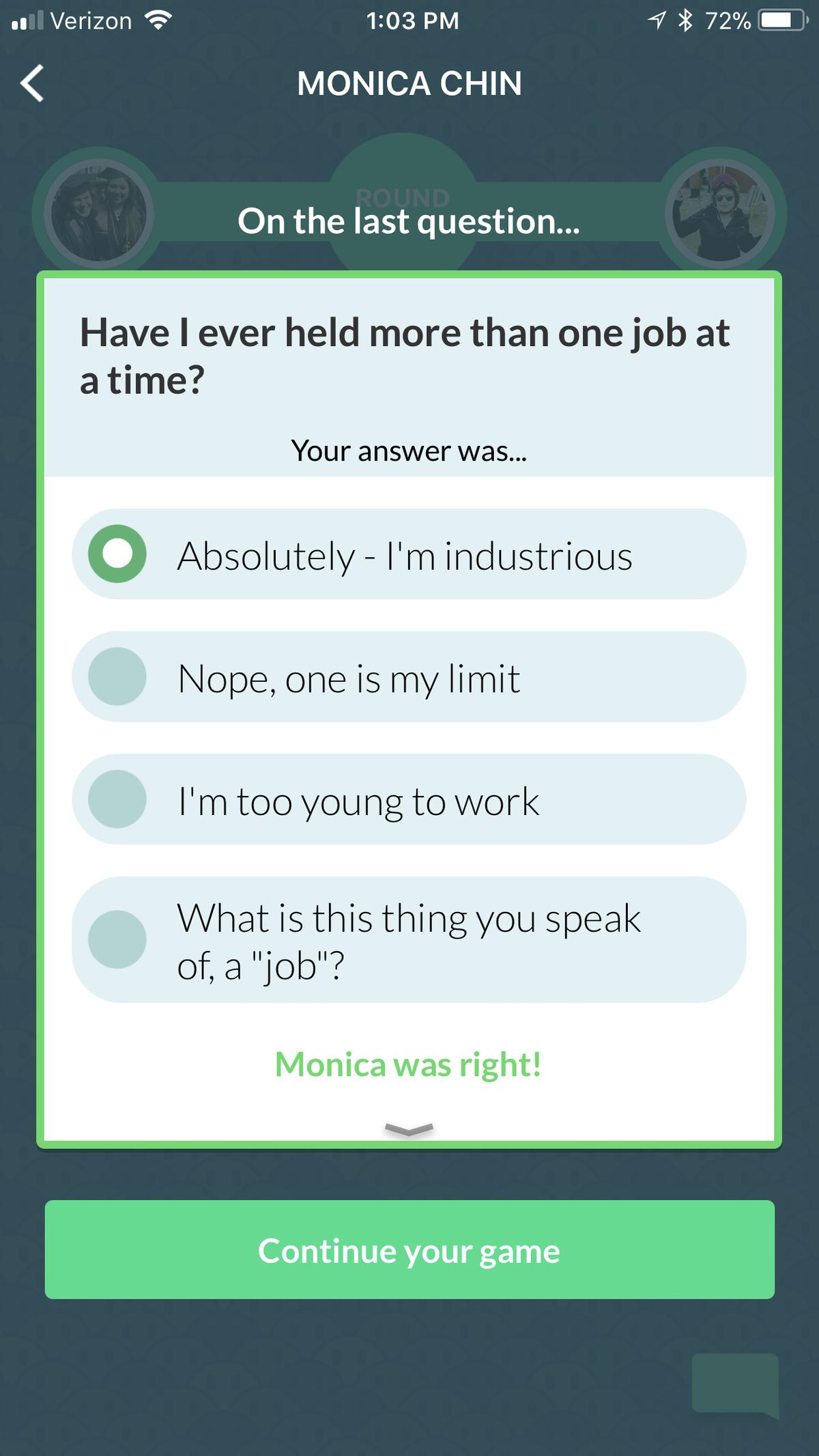 Celebrity quiz app store