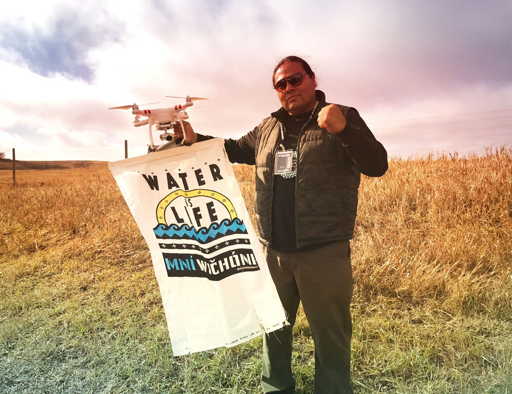 MyronDewey-dapl-drone-indigenous