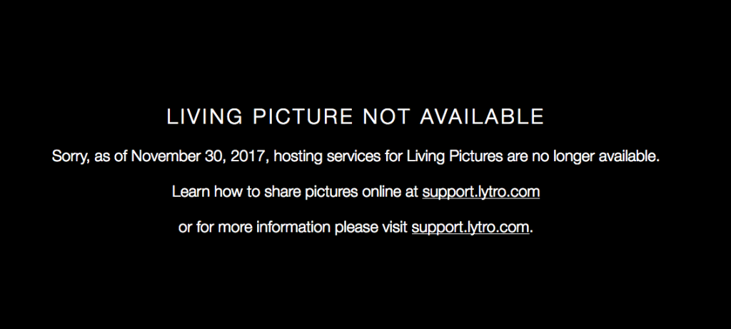 Lytro's 'living pictures' cease to live