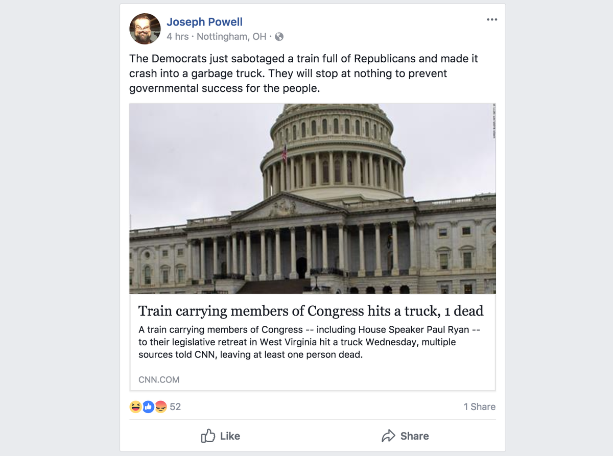 Facebook promoted lies and conspiracy theories following Amtrak crash